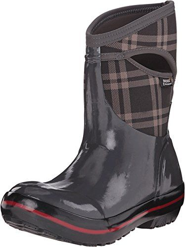 Bogs Womens Plimsoll Plaid Mid Waterproof Insulated Boot Dark Gray >>> Continue to the product at the image link.(This is an Amazon affiliate link)