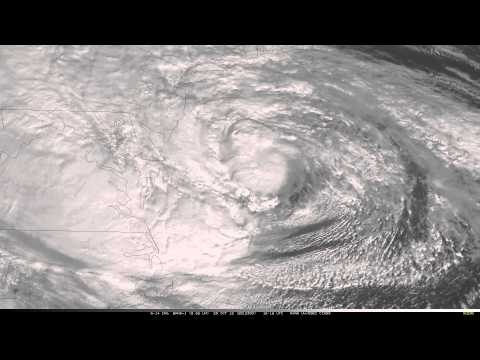 Beautiful animation of hurricane Sandy from http://cimss.ssec.wisc.edu/goes/blog/archives/category/goes-14. Courtesy of Cooperative Institute for Meteorological Satellite Studies (CIMSS), University of Wisconsin – Madison, USA.