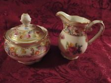 Schumann Arzberg Bavaria Dresden Demitasse Mini Creamer and Sugar Bowl