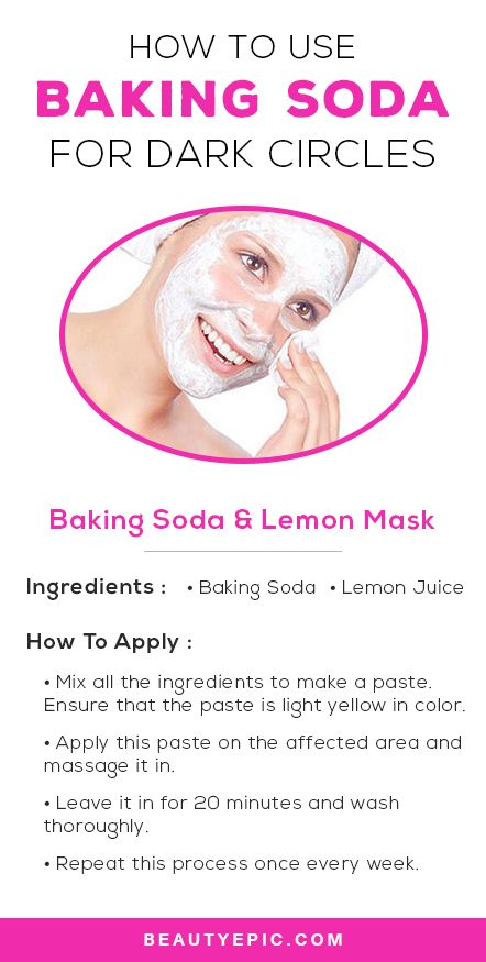 How to use Baking Soda for Dark Circles
