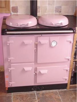pink antique stove! <3
