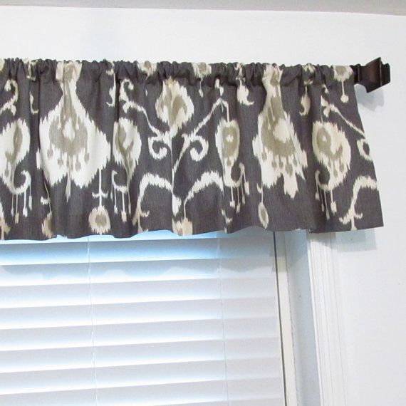 Magnolia IKAT Window Valance Modern Curtain by supplierofdreams, $32.00