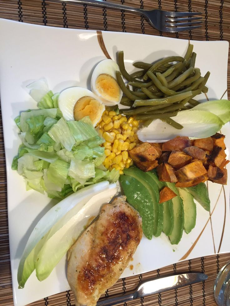 salad with chicken and sweet potatoes