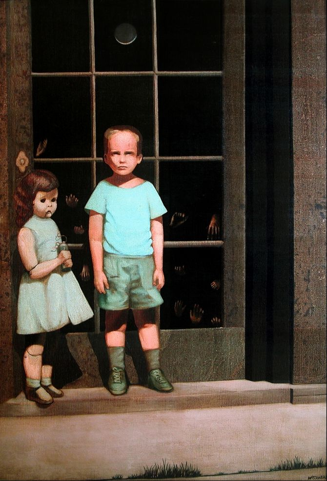 """Painted in 1972, """"The Hands Resist Him"""" has had frequent reports of the figures in the canvas disappearing at night."""