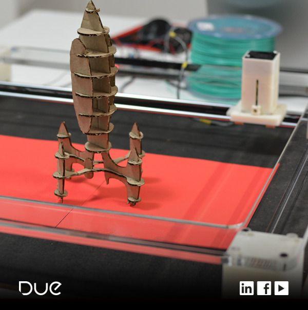 Something we liked from Instagram! Transformando cortes planos em geometrias 3D. Essa é a Due a primeira impressora laser 3D de mesa do Brasil.  Esta técnica é feita utilizando um software da @Autodesk que transforma o modelo 3D em superfícies 2D de montagem. Muito útil na confecção de #maquete #protótipo e principalmente #brinquedos para crianças e adultos. =) #Due #duelaser #lasercutter #laserengraved #123dmake #aerodesign #autodesk #foguete #startup #floripa #startupsc #crowdfunding…