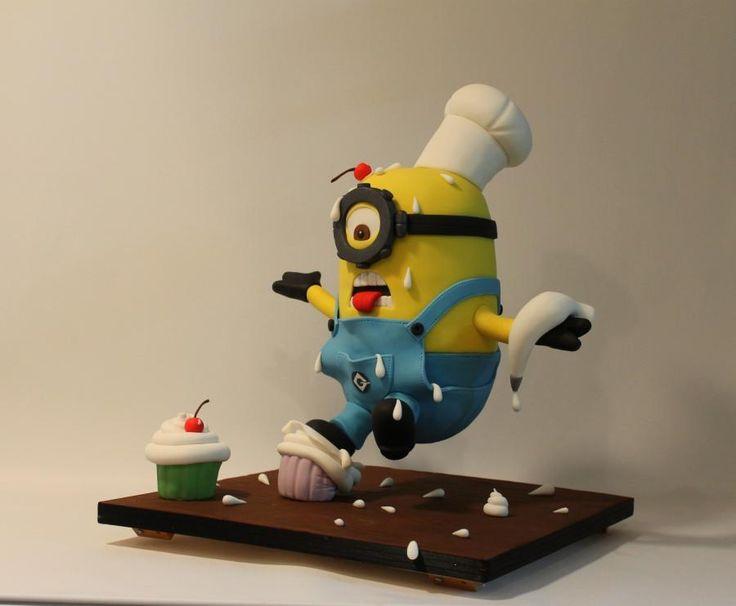 Anti-gravity cake!!!3D Minion falling!!!!  - Cake by Christina Tembriotou