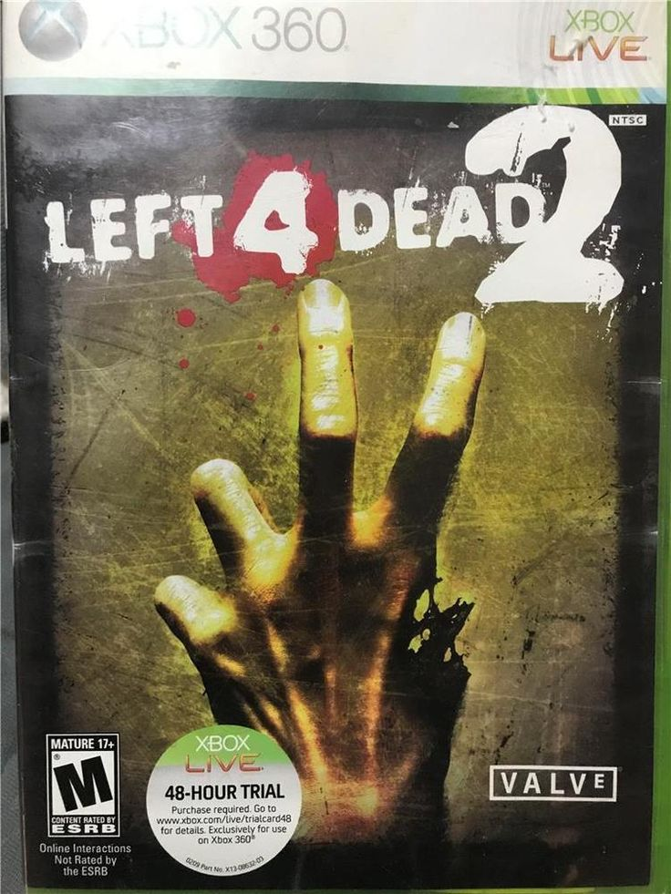 XBOX 360  Horror Halloween Left 4 Dead 2 Video Game In Case With Instructions #Xbox360