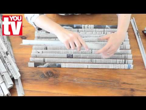 Tip: Make a basket out of newspaper - YouTube