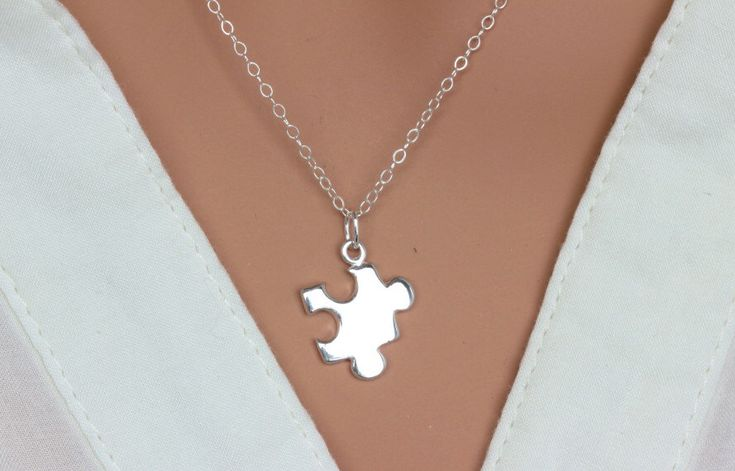 A personal favorite from my Etsy shop https://www.etsy.com/listing/212780322/sterling-silver-puzzle-piece-necklace