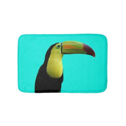 Toucan tropical animal summer paradise photo bath mat