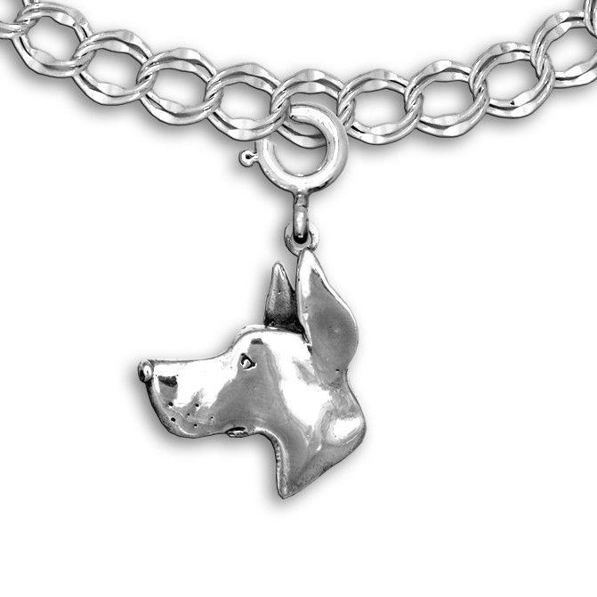 Sterling Silver #GreatDane Charm | Check it out @ShayCarl, kinda looks like Zeke!