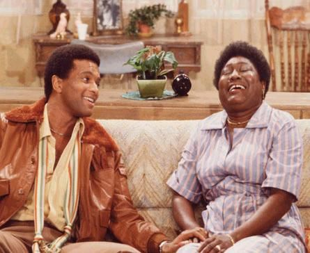 """Good Times: Ben Powers and Esther Rolle.  Alton Powers has died at age 64.  He appeared in """"Good Times."""""""