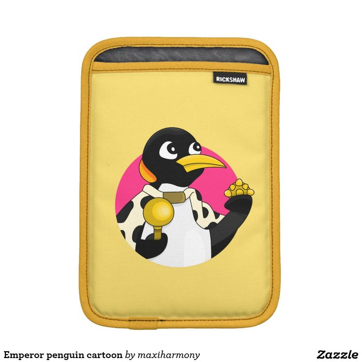 Emperor penguin cartoon sleeve for iPad mini