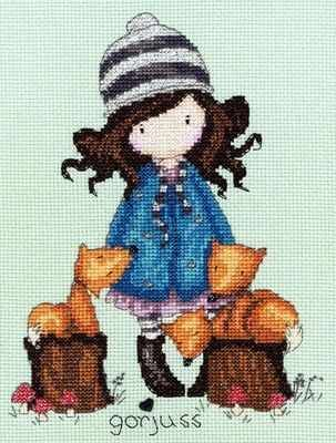 The Foxes - Gorjuss Cross Stitch Kit - Bothy Threads