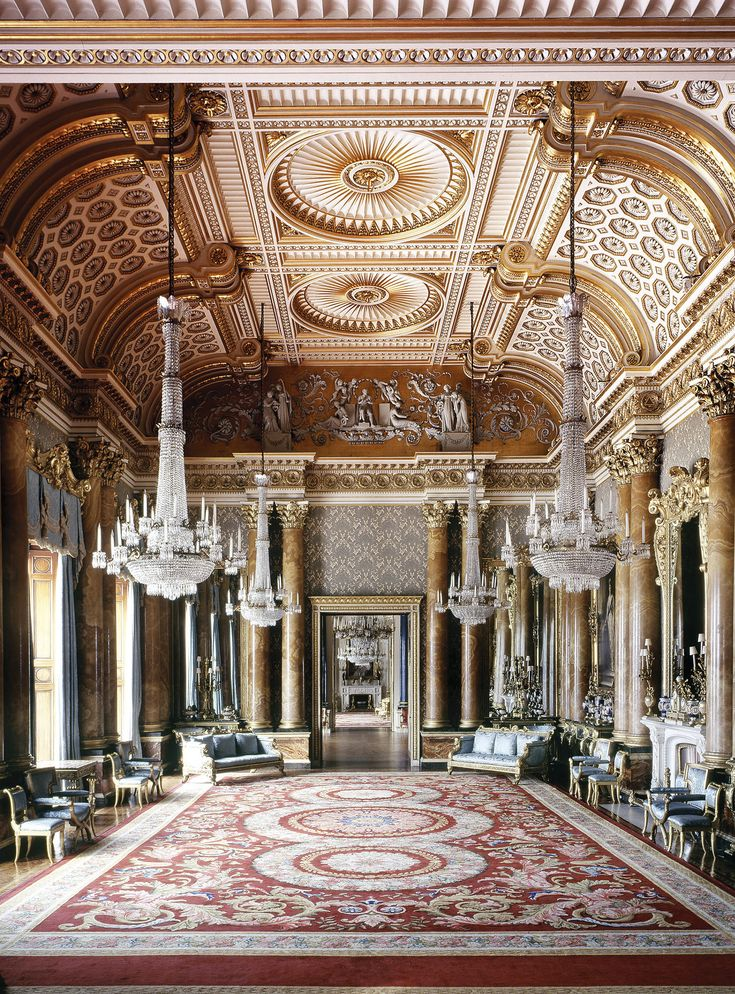 Castle Drawing Room: The Blue Drawing Room, Buckingham Palace, London, England