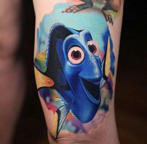 Finding Dory tattoo design by Luka Lajoie