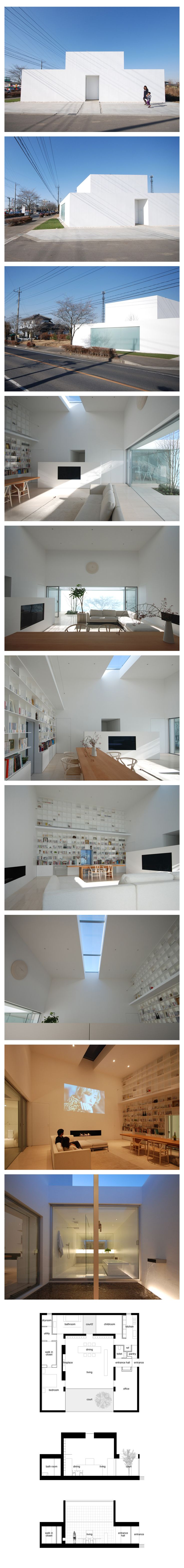 Library house by shinichi ogawa associates minimalist architecturejapanese architectureeditorial designmodern
