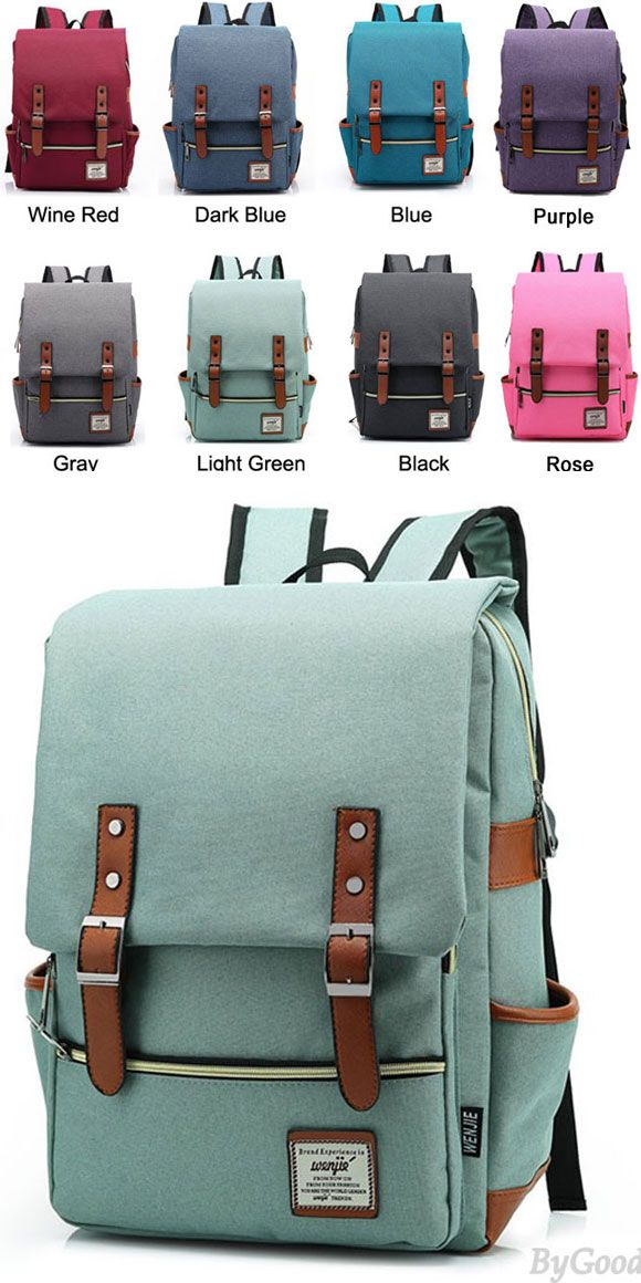 Which color do you like? Light green?  Do you find a new and unique school backpack? I suggest it to you! #school #backpack #college #rucksack #bag #women #canvas #student #travel