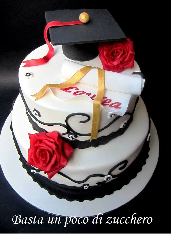 Torta Laurea https://www.facebook.com/pages/Basta-un-poco-di-zucchero/196077560477306  pretty graduation cake