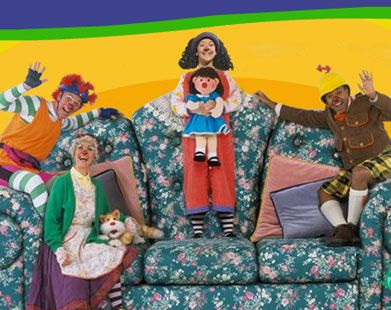 The Big Comfy Couch.. I used to love when she would act like the clock. I would do it with her on the floor