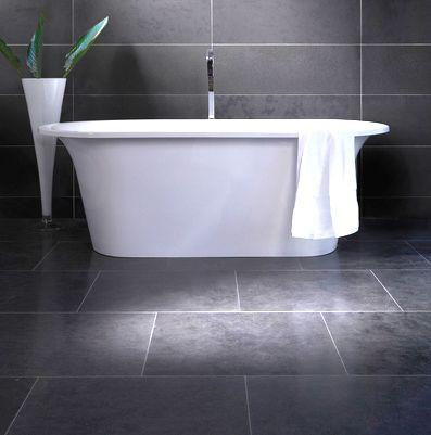I love dark grey tile.