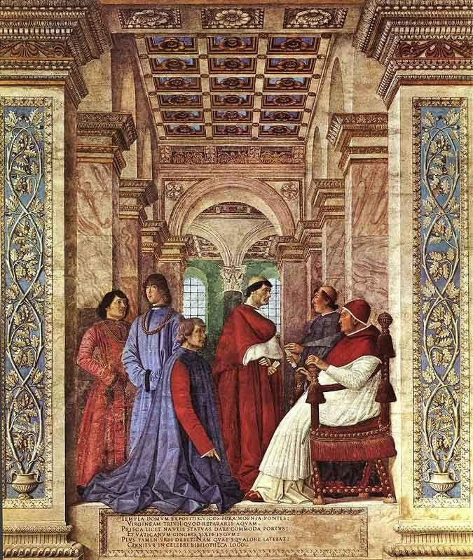 Мелоццо де Форли. Основание Ватиканской библиотеки.