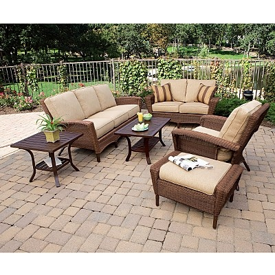 1000 images about patio furniture on pinterest sofa for Belmont brown wicker patio chaise lounge