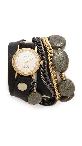 La Mer Collections Kenyan Stones Wrap Watch #dearsanta