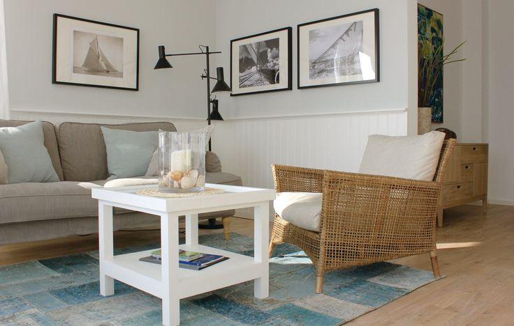 #Urlaub #Hamptons style #Wandpaneele #USA #maritim #Landhaus #stilvolle Wände #Holzpaneele weiss #Martha Stewart http://www.ferienwohnung-pier51.de/