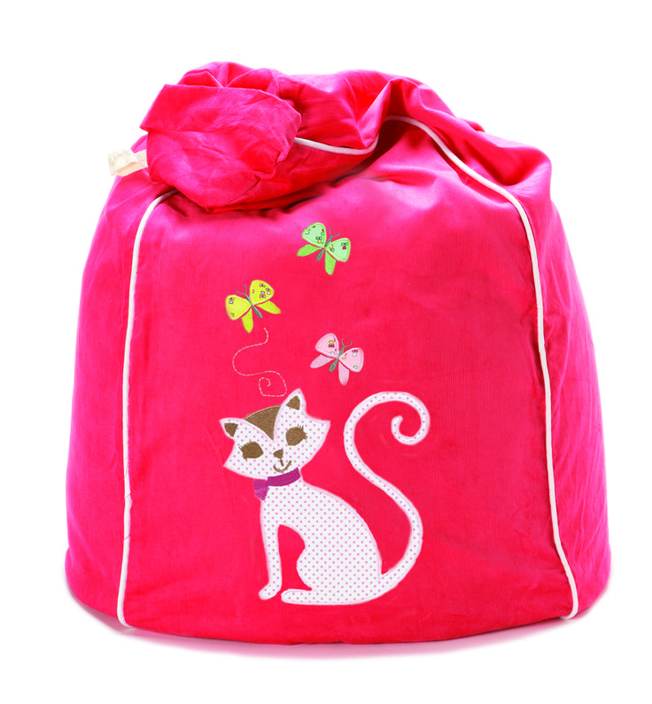 Kitty Kat bean bag in fresh watermelon LOVE!  http://www.cocooncouture.com/