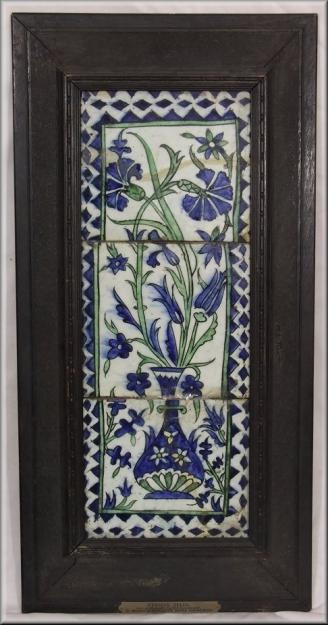 Pictures of Rare Set of 3 17thC Persian Islamic Pottery Tiles