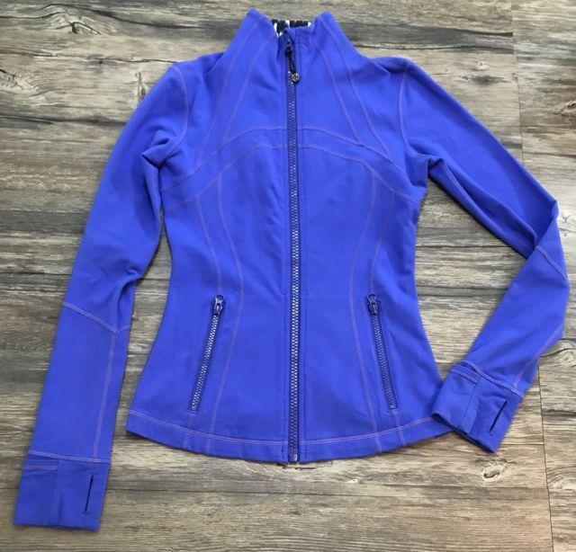 Lululemon Define Jacket Blue Leopard Print Full Zip Athletic Womens Sz 4* | eBay