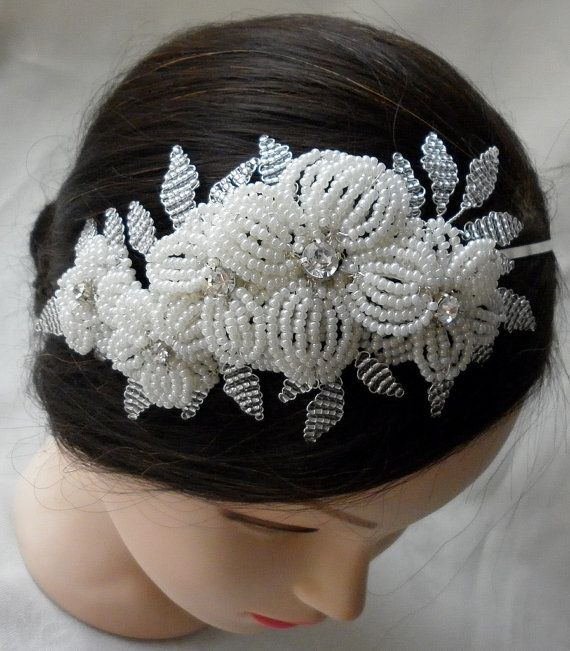 Handmade 'Marianne' vintage inspired French beaded by VickyHTiaras