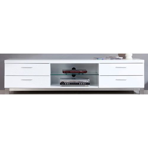 Composer White Media Stand B Modern Media Storage Cabinets Cd & Dvd Media Storage Home Ent