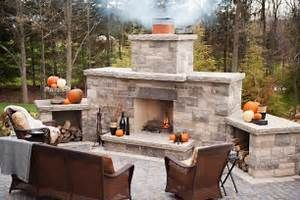 outdoor stone fireplace kits | Home Design Ideas