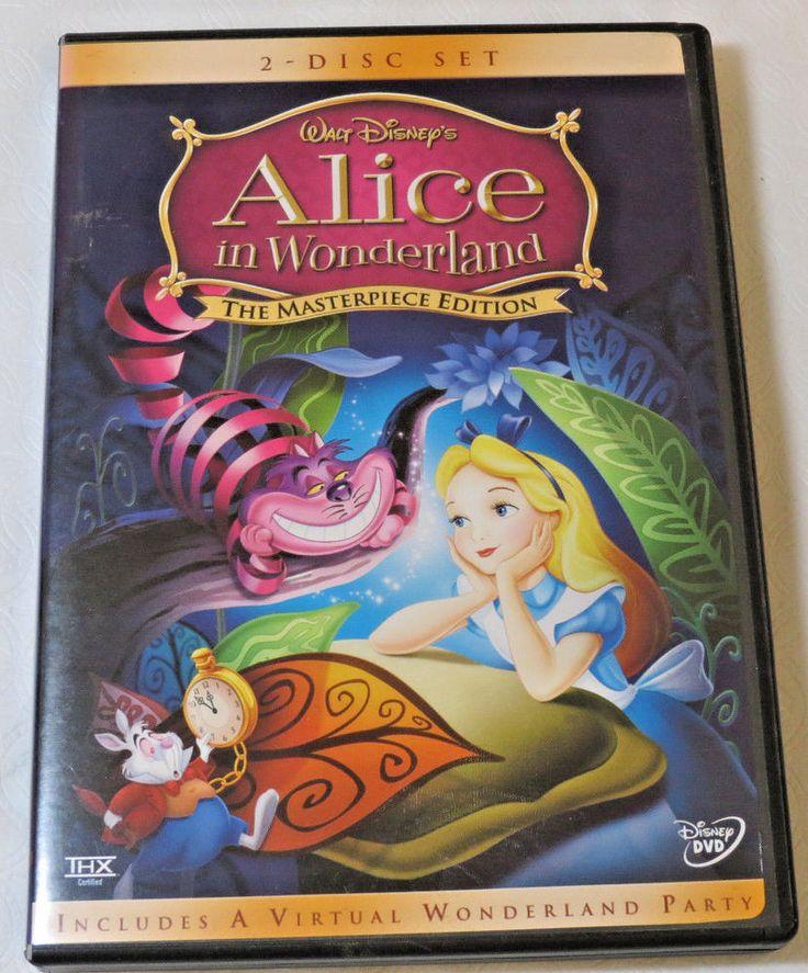 Walt Disney's Alice in Wonderland DVD 2004 2-Disc Set The Masterpiece Edition