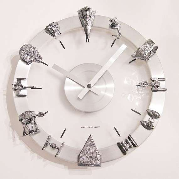 Sleek Sci Fi-Savvy Timekeepers - This Star Wars Clock is Geek-Chic and Marvelously Modern (GALLERY)