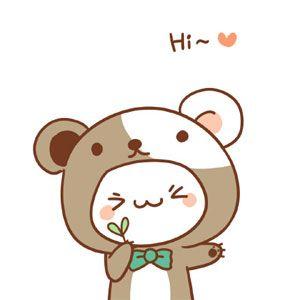 Hi cute cartoon pets image emoji