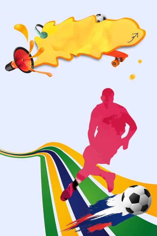 Background Sepak Bola : background, sepak, Bandera, Fútbol, Spanduk,, Desain, Banner,, Latar, Belakang