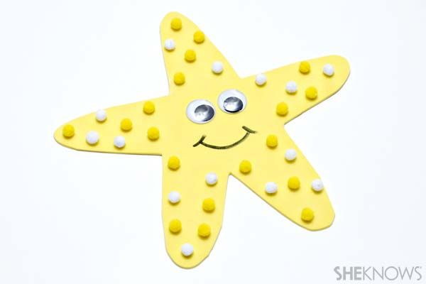 Ocean themed crafts for kids - star fish craft