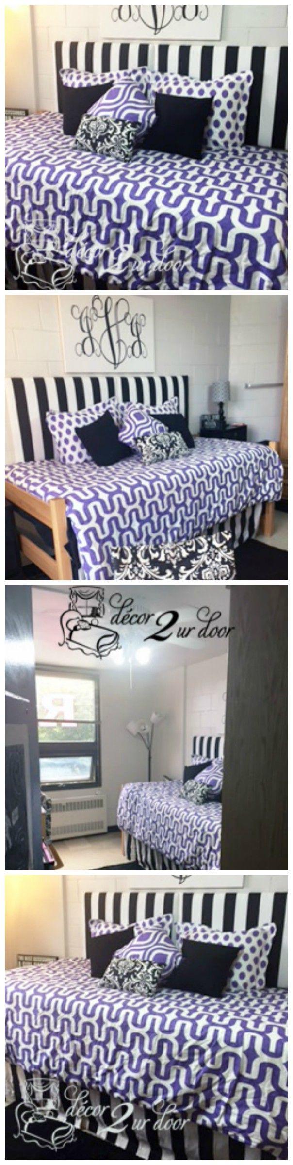 Designer Dorm Headboard, Dorm Bed Scarf, Dorm Bed Skirt/dorm Dust Ruffle,  Monogram Dorm Room Pillows, Dorm Room Window Treatment, Lofted Dorm Bed  Décor, ...