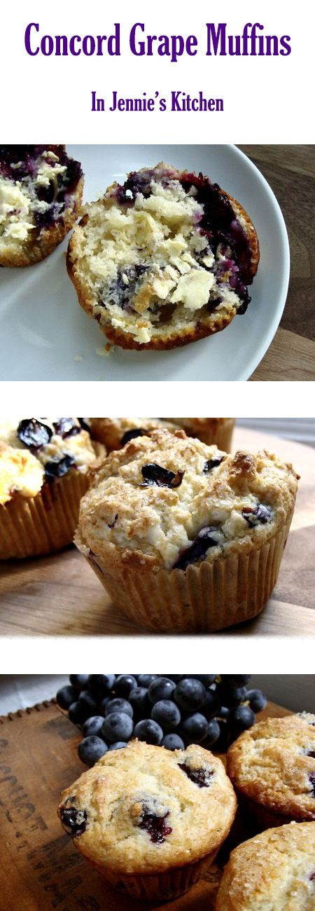 Imagine a toasty, warm muffin smeared with butter, and filled with little pockets of homemade grape jelly. That's the experience you'll have eating these easy to make, homemade Concord Grape Muffins. Cutting out the seeds can be tedious, but it's well worth the patience (and some supermarkets now sell seedless concord grapes!). One bite, and you'll be as addicted as my family is to this seasonal treat. Get the recipe at In Jennie's Kitchen.