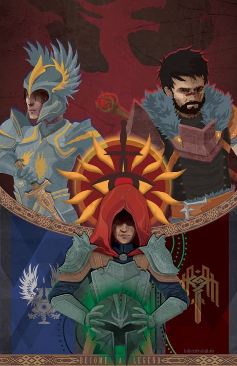 The Warden, the Champion, and the Lord Inquisitor, Dragon Age. << Badasses 1, 2, and 3! XD