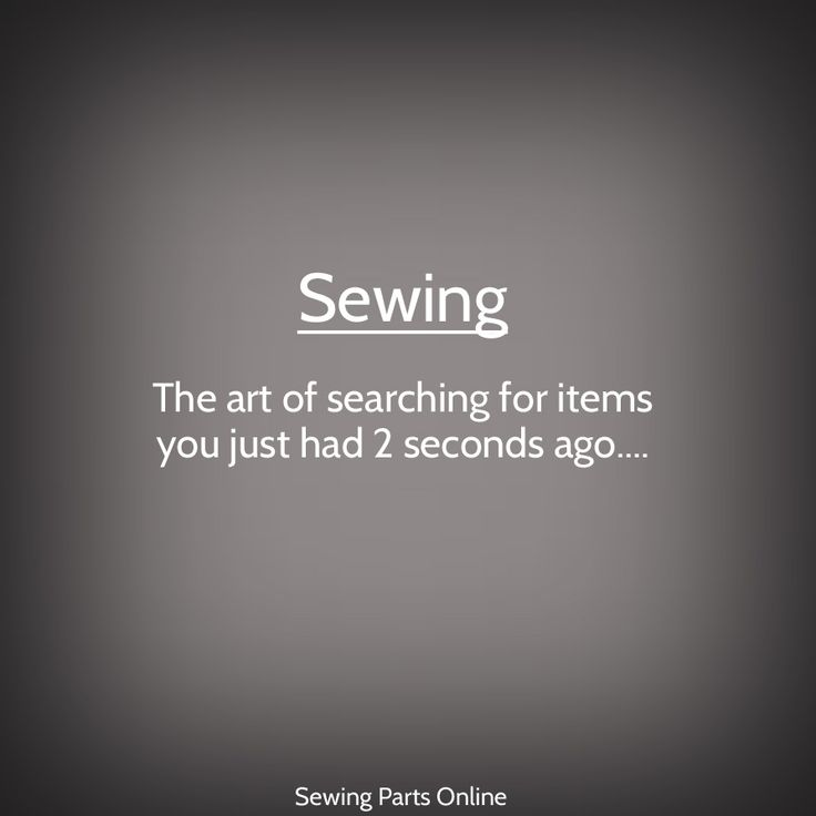 http://www.sewingpartsonline.com/ This is why it's so important to keep backup seam rippers, embroidery scissors, stash of bobbins...etc Sewing Parts Online Mem -  funny sewing, crafting meme, joke