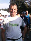 Marek Pawlak podczas Maratonu Warszawskiego