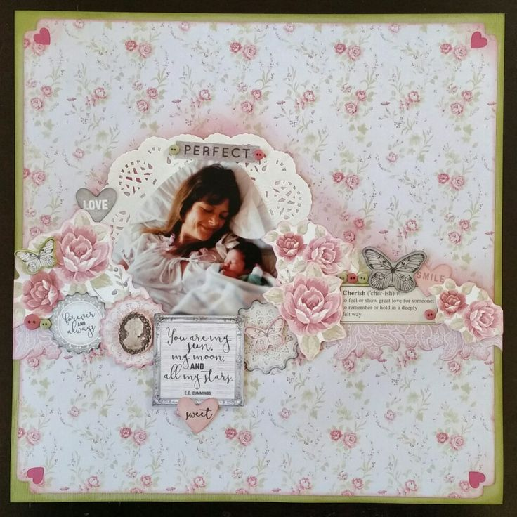 'A mothers love'  Using Kaisercrafts P.S I Love You collection