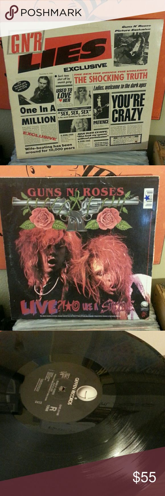 Guns n roses critical solution - Guns N Roses Lies Vinyl Record Lp Cover Vg Record Nm Vintage Other