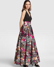 Vestido largo de mujer Fiesta El Corte Inglés con falda estampada