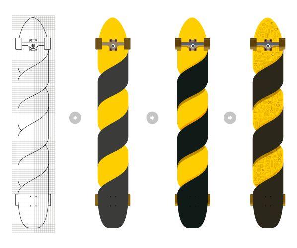 Custom Longboard by Manu Arranz, via Behance
