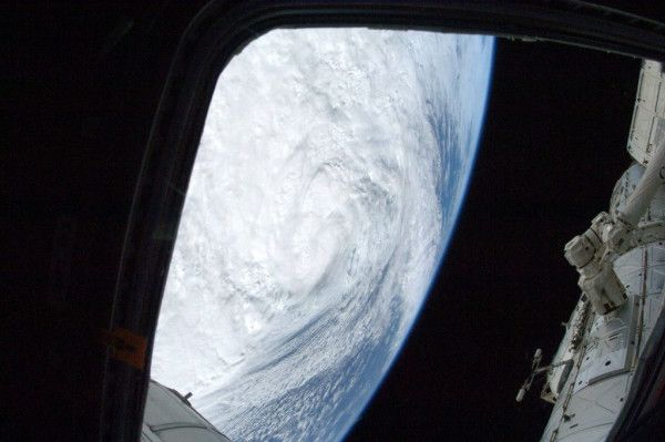 Sandy from ISS